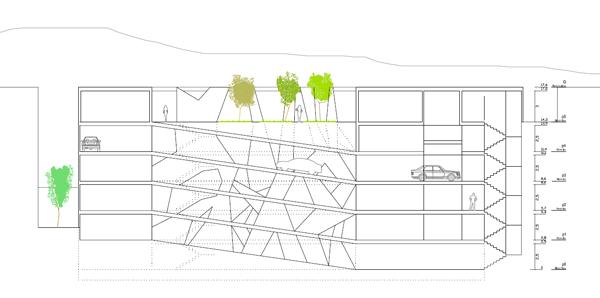 APARCAMIENTOS-VEJER_Anteproyecto_seccion-longitudinal